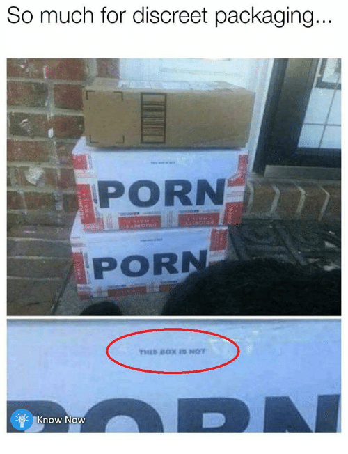 Porn, For, and Discreet: So much for discreet packaging  PORN  PORN