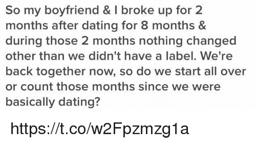 Broke Up After 2 Months Of Dating