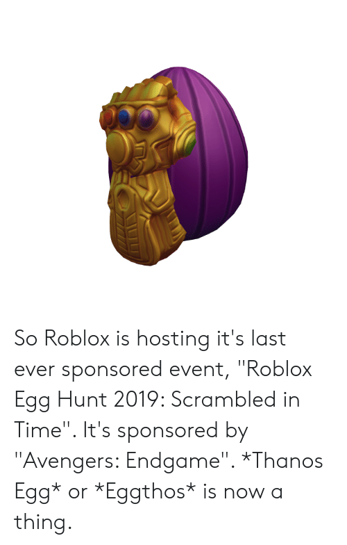 So Roblox Is Hosting It S Last Ever Sponsored Event Roblox Egg