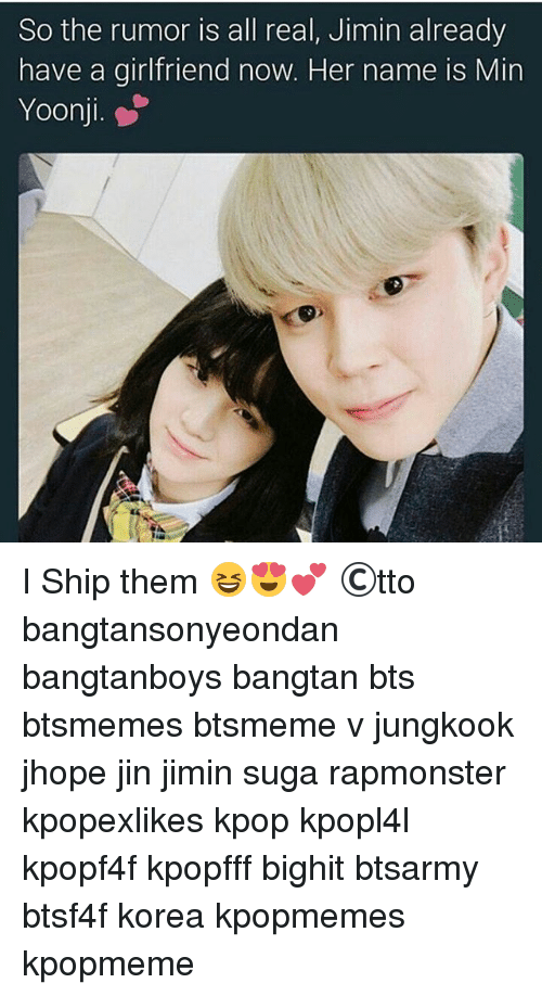 so the rumor is all real jimin already have a girlfriend now her