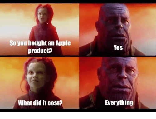 So You Bought an Apple Product? Yes What Did It Cost ...