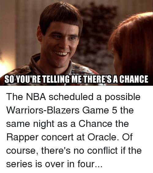 So You Re Telling Metheresachance The Nba Scheduled A Possible