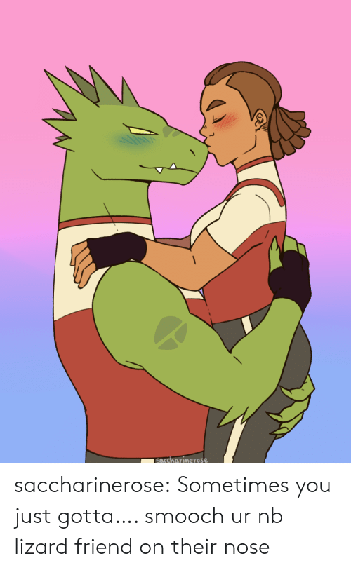 Tumblr, Blog, and Com: soccharinerose saccharinerose:  Sometimes you just gotta…. smooch ur nb lizard friend on their nose