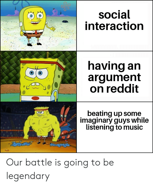 Social Interaction Having an Argument on Reddit Beating Up