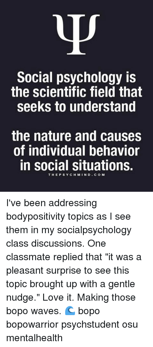 interesting social psychology topics