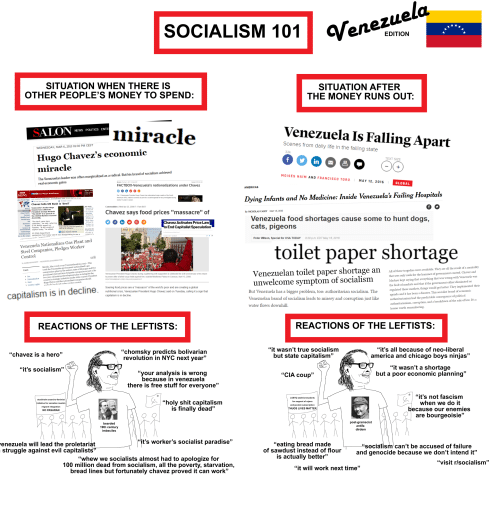 """America, Anaconda, and Cats: SOCIALISM 101 aVee Komo  Venezuela  EDITION  SITUATION WHEN THERE IS  OTHER PEOPLE'S MONEY TO SPEND:  SITUATION AFTER  THE MONEY RUNS OUT:  miracle  Venezuela Is Falling Apart  Scenes from daily life in the failing state  WEDNESDAY, MAR 6, 2013 01:30 PM CEST  32k  Hugo Chavez's economic  TEXT SIZE  miracle  MOISES NAIM AND FRANCISCO TORO  The Venezuelan leader was often marginalized as a radical. But his brand of socialism achieved  MAY 12, 2016  GLOBAL  FACTBOX-Venezuela's nationa  r Chavez  ns  AME  One-Hinute World News  Vo Medicine: Inside Venezuela's Failing Hospitals  Amecan OPEC naton's economy as  ying Infants an  front Page  Chavez tells UN Bush is 'devil  Commodities Wed Apr 23, 2008 7-17am BST  Afica Venezuela's leader Hugo  Chavez says food prices """"massacre"""" of  By NICHOLAS CASEY  MAY 15, 2016  d Natio General  Venezuela food shortages cause some to hunt dogs  cats, pigeons  The devil came here  z Activates Price Law  Bush'sSM  o End Capitalist Speculation  sulphur today,"""" he added  Speech Extract  Entertainment US State Department  Iso in the news spokesman Tom Casey said it was disappointing to see a  Peter Wilson, Special for USA TODAY 8.29 p.m.EDT May 18, 2016  Venezuela Nationalizes Gas Plant and  Steel Companies, Pledges Worker  toilet paper shortage  on  trol  This  Mérida, May 22nd 2oo9  week the Venezuelan government nationalized a gas  compression plant in the eastern state of Monagas and five  prominent steel and iron briquette companies as part of its  y  Venezuelan toilet paper shortage an a  unwelcome symptom of socialism  All of these tragedies were avoidable. They are all the result of a mentality  that sees only nails for the hammer of government control. Chavez and  Maduro kept saying that everything that was wrong with Venezuela was  the fault of markets and that if the government either eliminated or  regulated those markets, things would get better. They implemented their  agenda and it has been a disaste"""