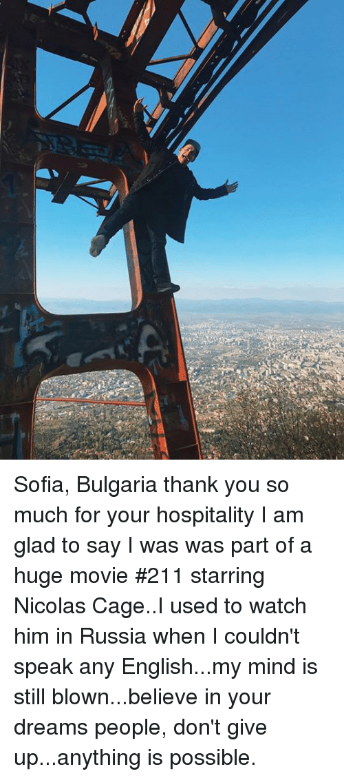 Sofia Bulgaria Thank You So Much for Your Hospitality I Am