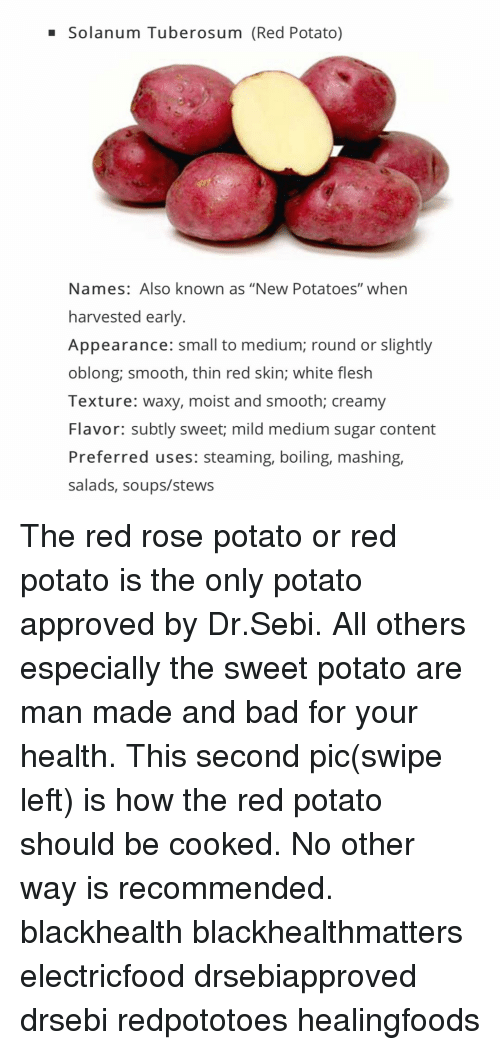 Solanum Tuber Osum Red Potato Names Also Known as New