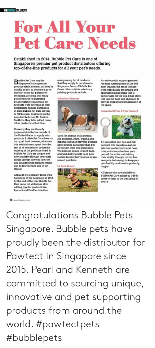 SOLUTIONS for All Your Pet Care Needs Established in 2014