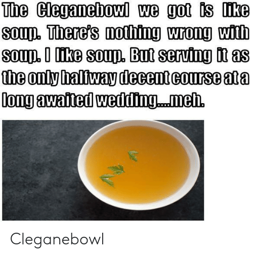 Cleganebowl, Somd, and  Wrong: SomD. here's mothing wrong with  aS  the only halfway decentcourse ata Cleganebowl