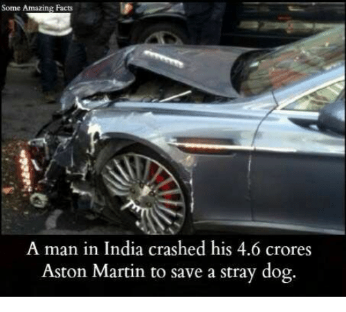 Some Amazing Facts A Man In India Crashed His 46 Crores Aston Martin