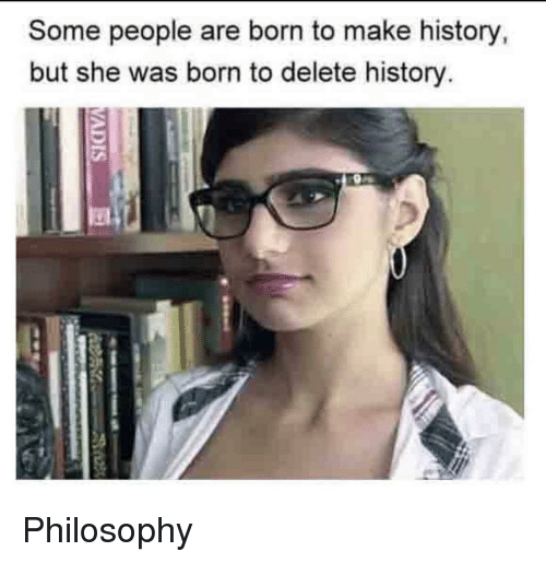 Reddit, History, and Philosophy: Some people are born to make history  but she was born to delete history