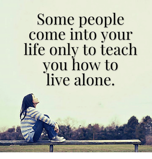 Any people live alone?