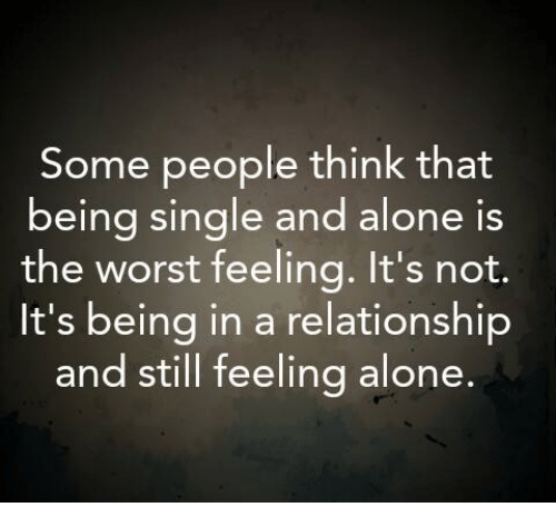 Feel like being alone