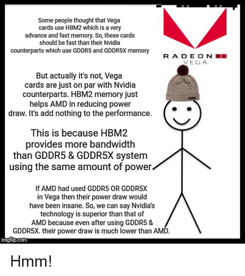 Some People Thought That Vega Cards Use HBM2 Which Is a Very Advance