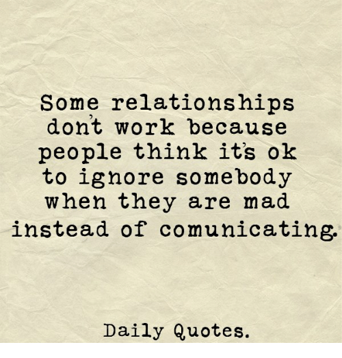work and relationships