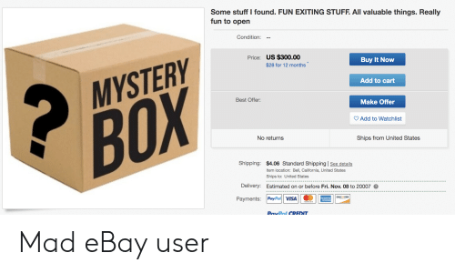 Some Stuff I Found Fun Exiting Stuff All Valuable Things Really Fun To Open Condition Price Us 30000 Buy It Now 28 For 12 Months Add To Cart Mystery Best Offer Make
