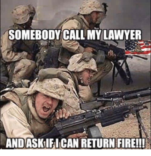 Image result for lawyer with gun meme