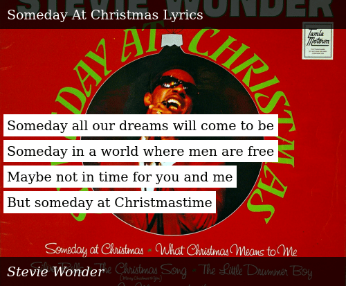 Someday At Christmas Lyrics.Someday At Christmas