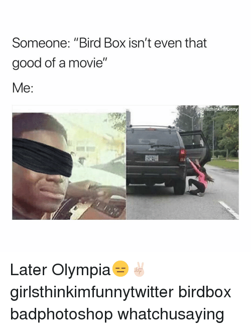 Someone Bird Box Isn T Even That Good Of A Movie Gristhinkimrunny
