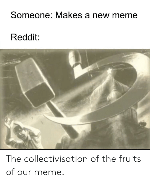Someone Makes a New Meme Reddit the Collectivisation of the Fruits