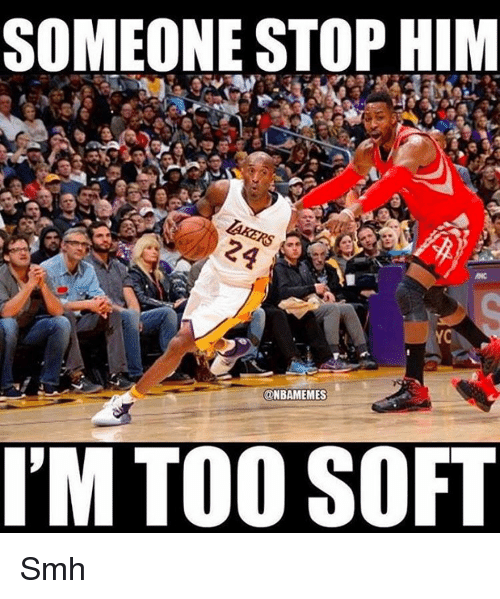 Nba, Smh, and Ims: SOMEONE STOP HIM  @NBAMEMES  I'M TOO SOF Smh