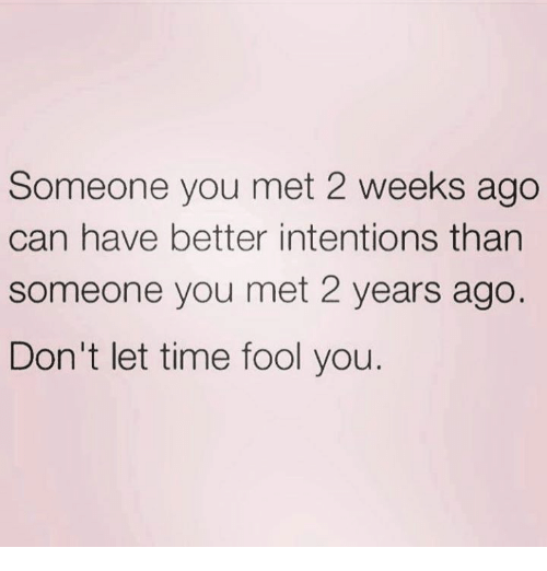 someone you just met