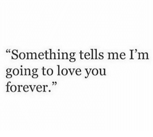 Something Tells Me I'm Going to Love You Forever 25 | Love