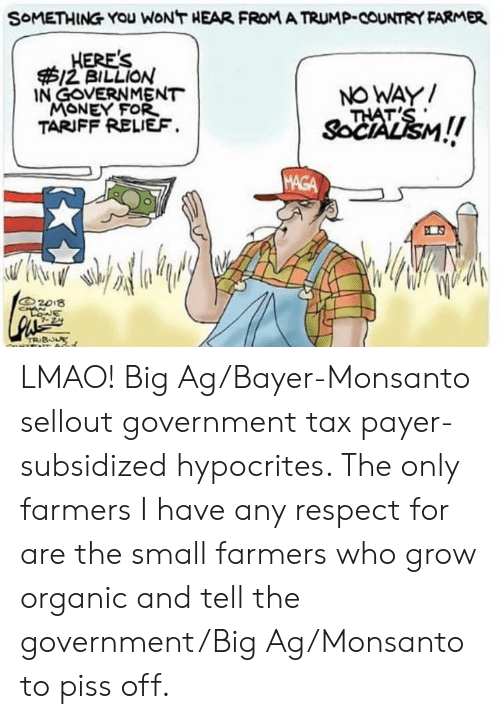 SoMETHING YOU WONT HEAR FROM a TRUMP-COUNTRY FARMER ERE'S 12