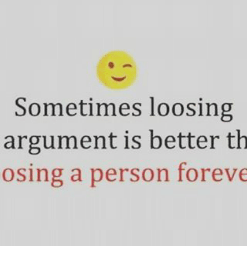 how to be the better person in an argument