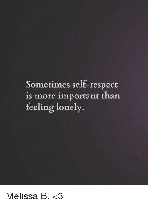 what is self respect and why is it important