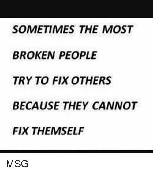 try to fix it