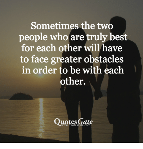 Sometimes the Two People Who Are Truly Best for Each Other Will