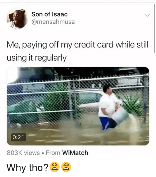 paying off a credit card