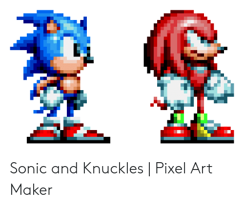 Sonic and Knuckles | Pixel Art Maker | Sonic Meme on ME ME