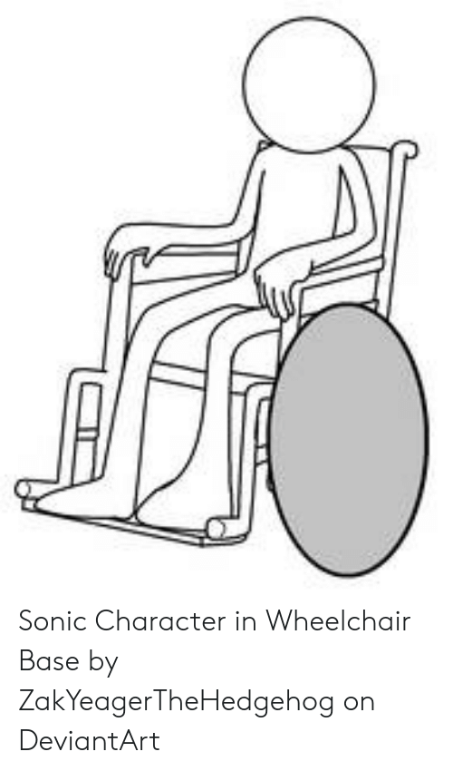 Sonic Character In Wheelchair Base By Zakyeagerthehedgehog On Deviantart Deviantart Meme On Me Me