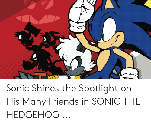 Sonic Shines The Spotlight On His Many Friends In Sonic The