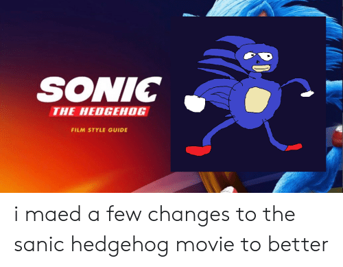 sonic the hedgehog movie sanic drawing