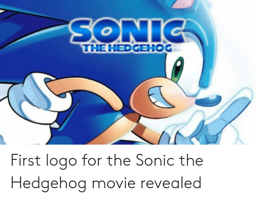 Sonic The Hedgehog First Logo For The Sonic The Hedgehog Movie
