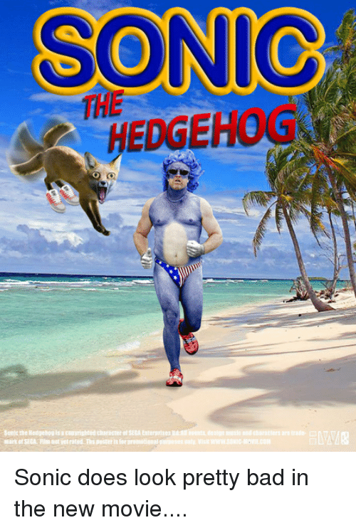 SONIC THE HEDGEHOG Mark of SECA Flm Nat Yet Rated Ths Poster Is for