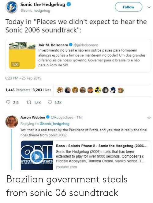 Sonic the Hedgehog Follow Today in Places We Didn't Expect