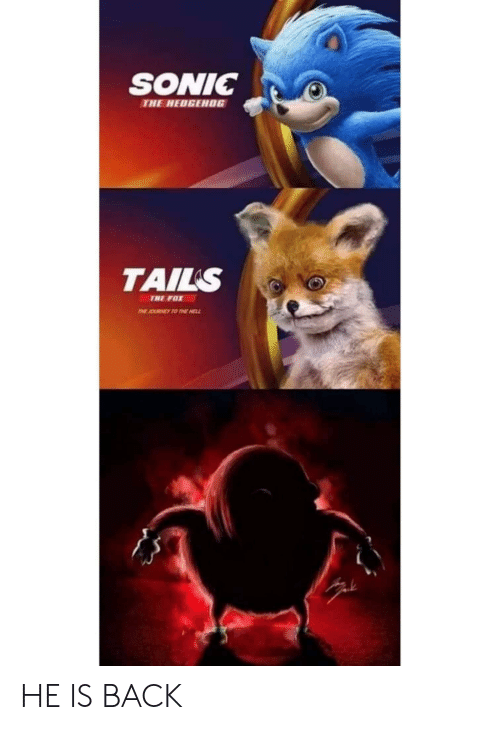 Sonic The Hedgehog Tails The Fox He Is Back Sonic The Hedgehog Meme On Me Me