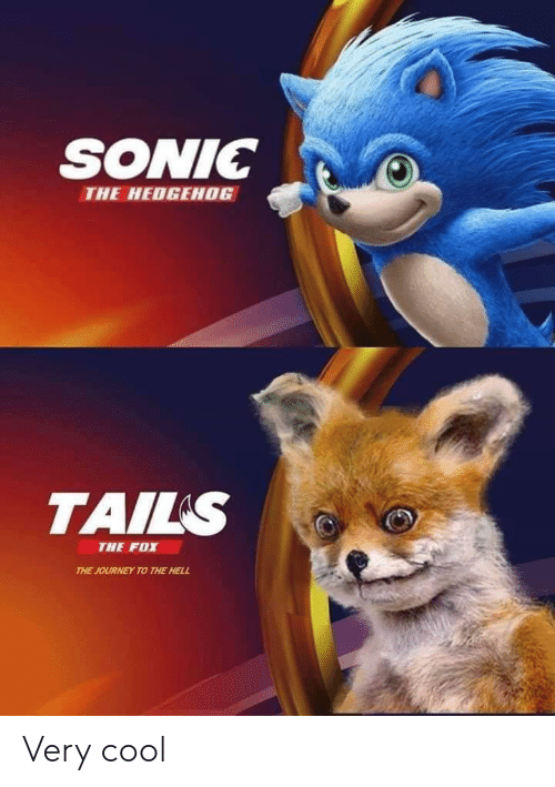 Sonic The Hedgehog Tails The Fox The Journey To The Hell Very Cool Journey Meme On Me Me