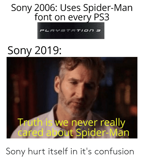Sony 2006 Uses Spider-Man Font on Every PS3 PLAYSTATION S