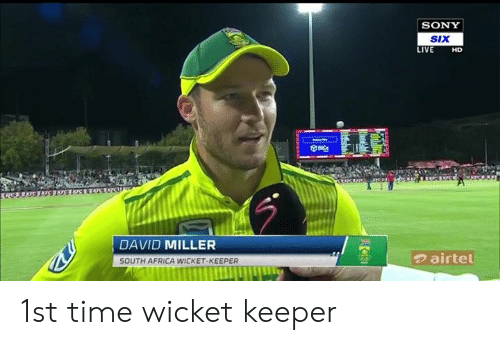 SONY siX LIVE HD DAVID MILLER SOUTH AFRICA WICKET-KEEPER