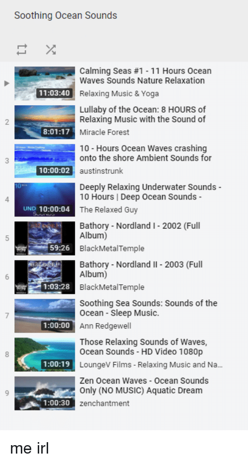 Soothing Ocean Sounds Calming Seas #1-11 Hours Ocean Waves