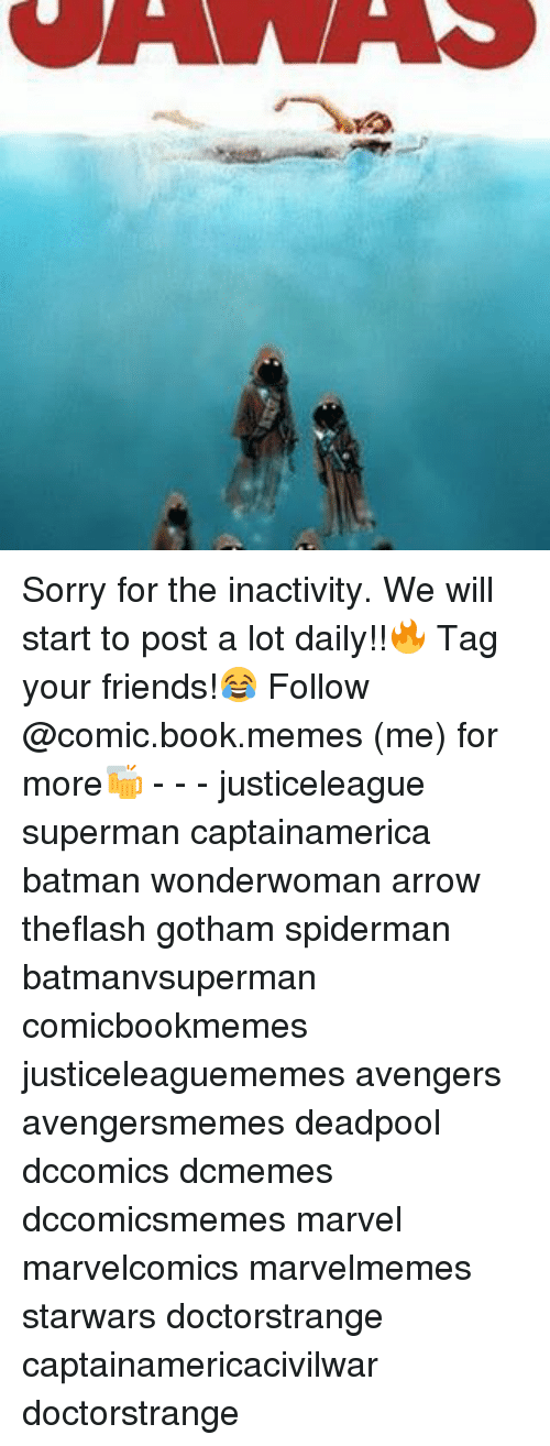 Batman, Friends, and Memes: Sorry for the inactivity. We will start to post a lot daily!!🔥 Tag your friends!😂 Follow @comic.book.memes (me) for more🍻 - - - justiceleague superman captainamerica batman wonderwoman arrow theflash gotham spiderman batmanvsuperman comicbookmemes justiceleaguememes avengers avengersmemes deadpool dccomics dcmemes dccomicsmemes marvel marvelcomics marvelmemes starwars doctorstrange captainamericacivilwar doctorstrange