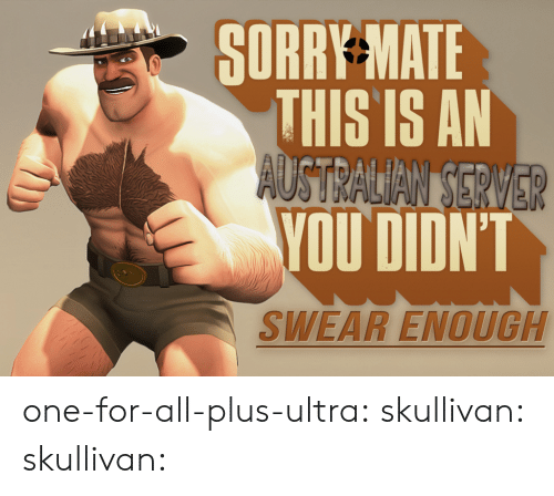 Sorry, Tumblr, and Blog: SORRY MATE  THIS IS AN  YOU DIDN'T  SWEAR ENOUGH one-for-all-plus-ultra:  skullivan: skullivan: