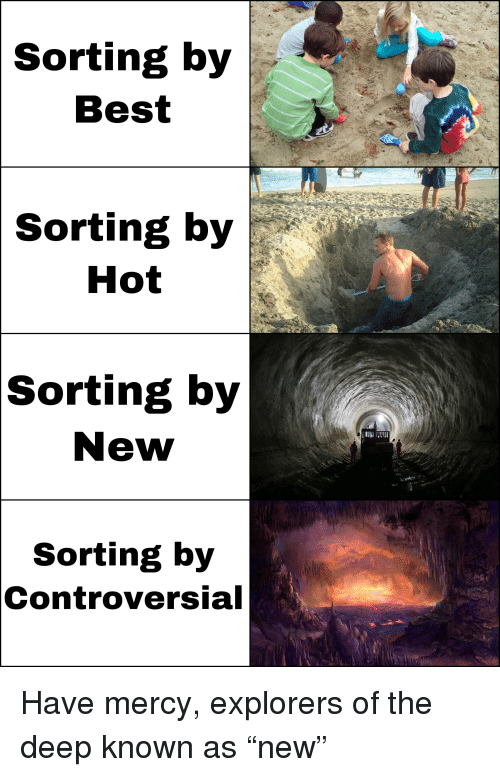 Best, Dank Memes, and Controversial: Sorting  by  Best  Sorting  by  Hot  Sorting by  New  Sorting by  Controversial
