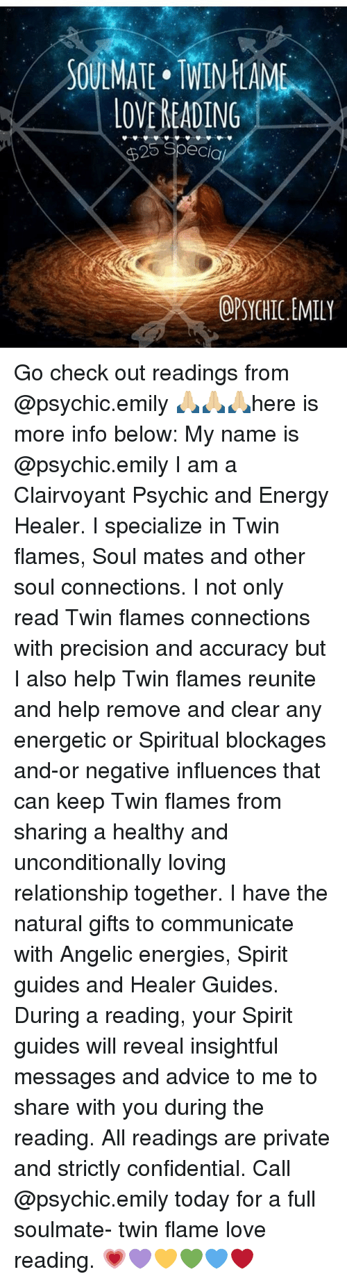 SOULMATE TWIN FLAME LOVE READING 25 Specia OPSYCHIC EMILY Go Check